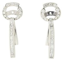 Diamond Earring Enhancers - 18k White Gold Drop Style 2.40ctw