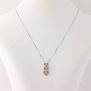 Other Diamond Heart Pendant Necklace 18 - 14k Yellow White Rose Gold Fine .50ctw