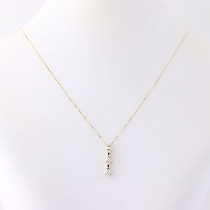 Diamond Journey Pendant Necklace 12 - 14k Yellow Gold Pear Cut .50ctw