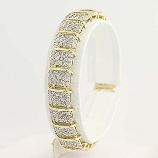 Other Diamond Link Bracelet 12 - 10k Yellow White Gold 10.00ctw
