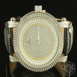 Diamond Maxx Men Icy Real Leather Jojo King Master Style Gold Finish Watch Joe