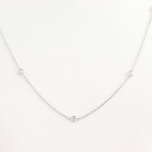 Other Diamond Necklace 24 - 14k White Gold Cable Chain 1.20ctw