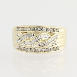Diamond Ring - 10k Yellow White Gold Anniversary Baguette Cut .50ctw