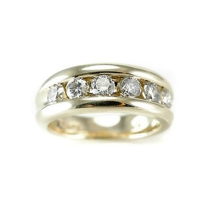 Other Diamond Ring 1.20 Ct Round Diamond 67 Gr 14k Yellow Gold Womans