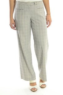 Poleci Grey Plaid Check Wide Pants