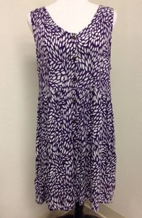 Other short dress Purple West Moon Rayon White Print Boho on Tradesy