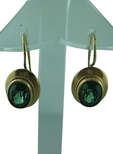 Fine,Estate,14k,Yellow,Gold,Citrine,Earrings,