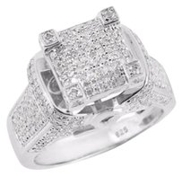 Other Engagement Womens Diamond Ring Bridal Wedding Sterling 925 Silver Unique 0.60 Ct