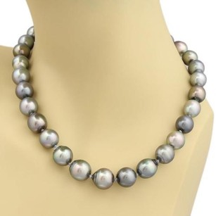 Other Estate 11mm-13mm Tahitian Baroque Pearl 14k White Gold Necklace