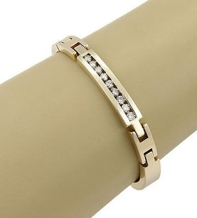 Estate Solid 14k Yellow Gold 0.85ct Diamond Link Bracelet