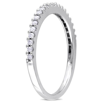 Other 10k White Gold 15 Ct Tdw Diamond Eternity Ring G-h Color I3 Clarity