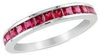 Sterling Silver 34 Ct Tgw Ruby Eternity Ring