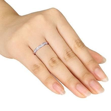 Other 10k Pink Gold 110 Ct Diamond Tw Eternity Fashion Ring Gh I2i3