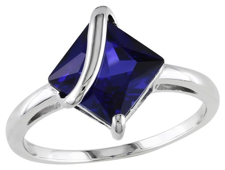 Other Sterling Silver 2.8 Ct Sapphire Ring