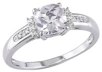 Other 10k White Gold Diamond And 1 14 Ct Tgw White Topaz Fashion Ring Gh I2-i3