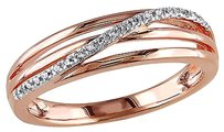Other Rose Sterling Silver Diamond Fashion Twist Crossover Ring I3