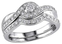 Sterling Silver 13 Ct Diamond Tw Bridal Set Ring Gh I2-i3
