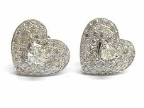 Fine Heart Shape Diamond White Gold Earrings 2.30ct