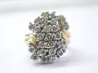 Fine Round Cut Diamond Cluster Jewelry Ring Yg 2.45ct