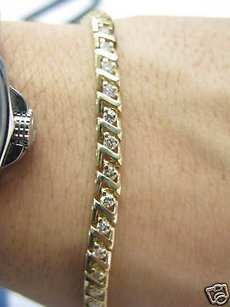 Fine Round Cut Diamond Tennis Z Bracelet 1.20ct