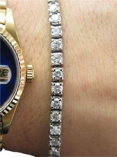 Other Fine 10.46c Platinum Round Cut Diamond Tennis Bracelet