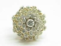 Fine Cluster Diamond Big Jewelry Ring Yg 4.50ct