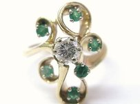 Other Fine Gem Green Emerald Diamond Jewelry Ring 0.86ct