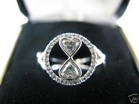 Other Fine Heart Shape Diamond White Gold Ring 0.84ct