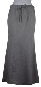 209 Woemsn Solid Skirt Gray