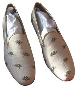 Coach Gold and beige / cream Flats