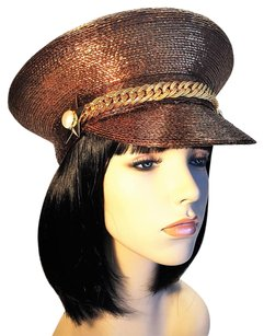 FRANK OLIVE Brown Metallic Captain [ HeavenlyHats ]