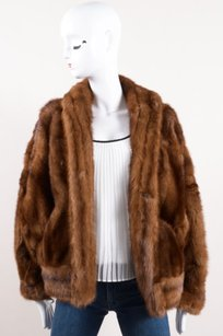 Vintage Tan Fur Brown Jacket