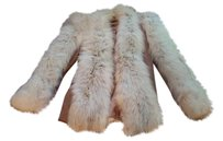 Fur Fox Cape One Of A Kind White Jacket