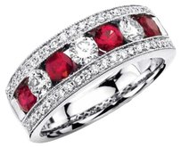 Other Genuine Ruby 18k White Gold Plated Ring