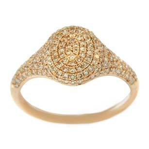 Glk 14k Rose Gold 0.706ct Diamond Pav Ring