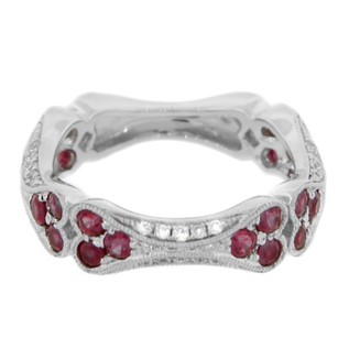 Other Glk 14k White Gold 1.05ct Pink Sapphire Diamond Ring