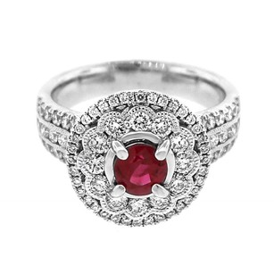 Other Glk 14k White Gold 1.13ct Diamond And Ruby Ring