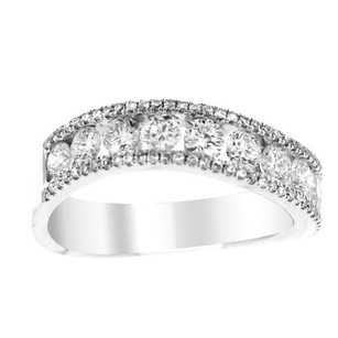 Other Glk 18k White Gold 1.25ct Diamond Embellished Curved Band