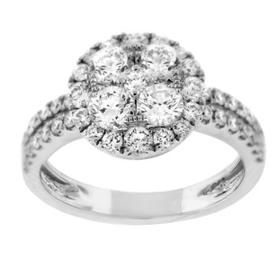 Other Glk 18k White Gold 1.84ct Diamond Double Band Ring