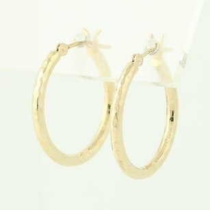 Gold Hoop Earrings - 14k Yellow Gold Pierced Snap Bar Womens 34