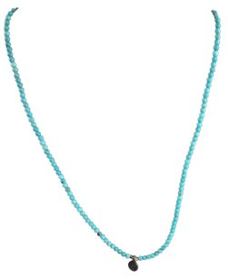 Gold Tone Satya Jewelry Blue Turquoise Necklace 30