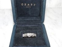 Graff Platinum Diamond Eternity Wedding Band Ring London