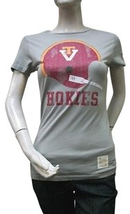 Retro Virginia Tech T Shirt Gray