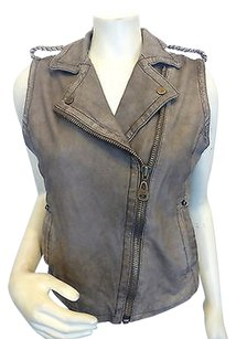 Doma Distressed Leather Vest