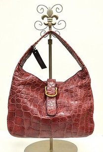 Other Tardini Burgundy Genuine Alligator Handbag 30489at Hobo Bag