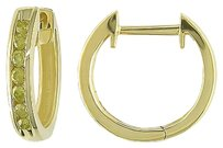 10k Yellow Gold 14 Ct Yellow Diamond Tw Cuff Hoop Clip-in Earrings