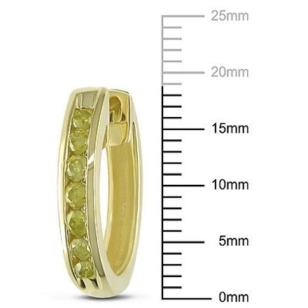 Other 10k Yellow Gold 14 Ct Yellow Diamond Tw Cuff Hoop Clip-in Earrings