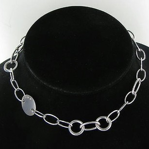 Other Hot Diamonds Oval Link Necklace 0.03cts Diamond Sterling Silver