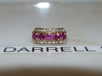 Huge 18k Yellow Gold Diamond Ruby Cocktail Engagement Ring Wedding Band 2.60cts.