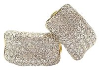 18kt Round Cut Diamond Huggie Earrings Yellow Gold 3.00ct 34